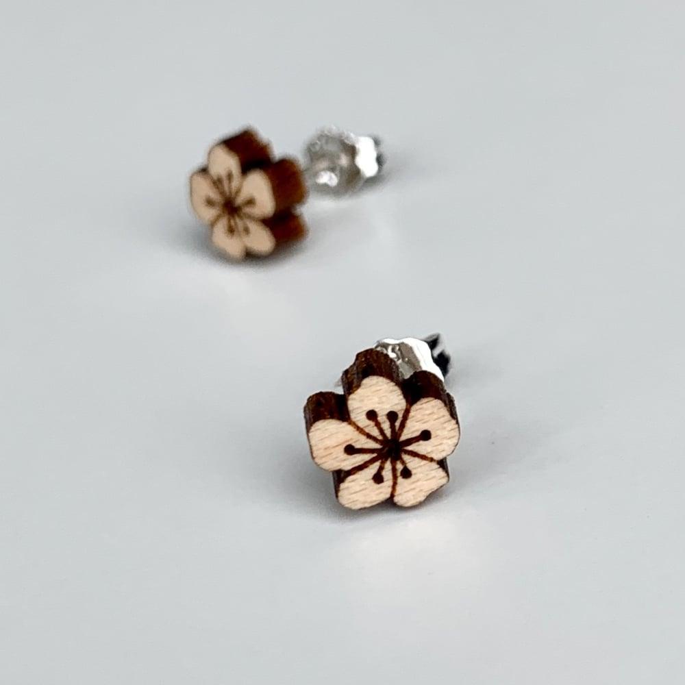 Image of Plum Blossom Studs