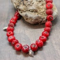 Lampwork necklace with crabapples
