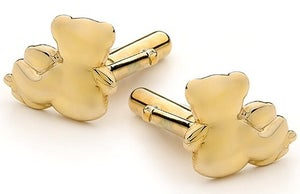 Image of Bears of Hope Cufflink - In 9ct Solid Yellow Gold