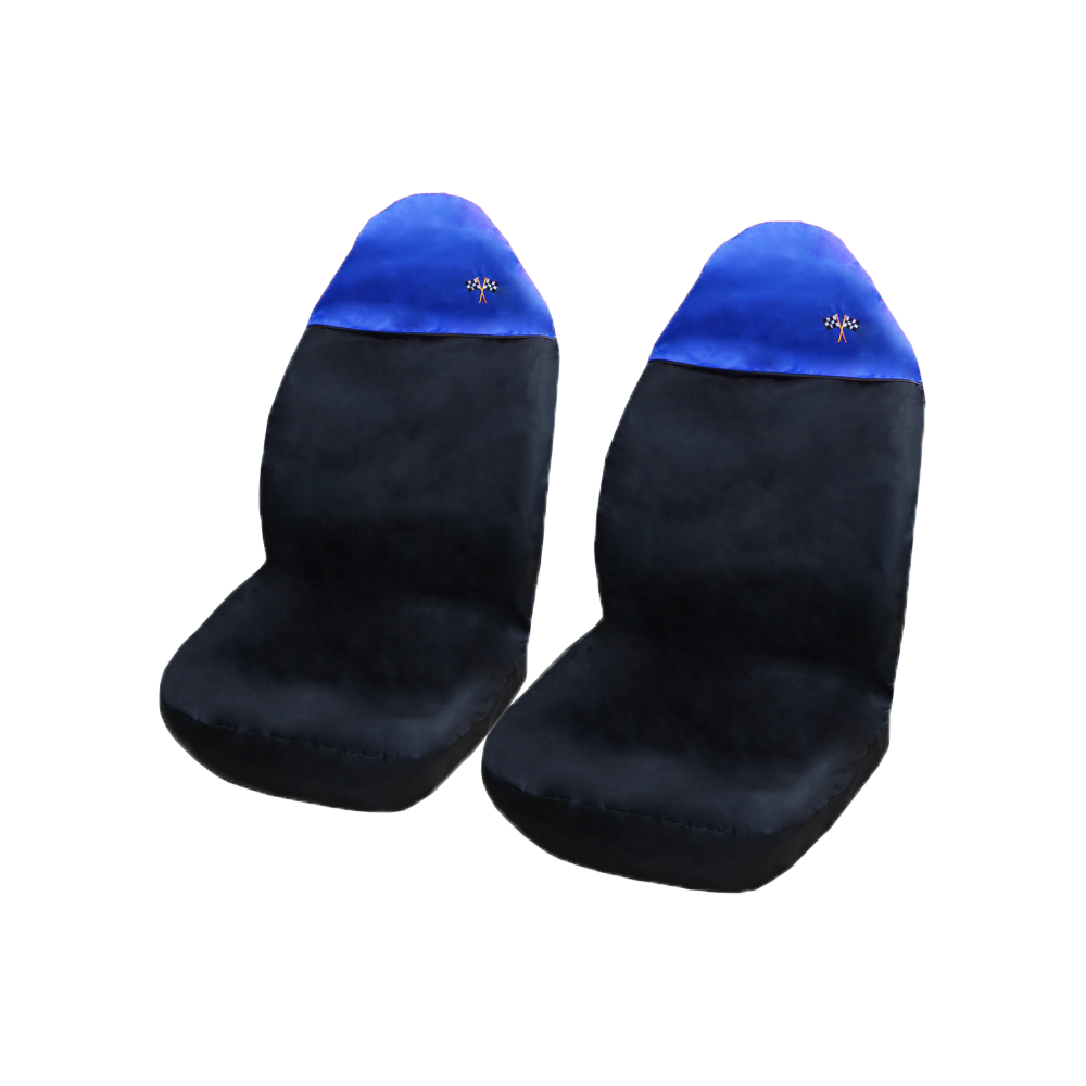Image of Seat covers - Blue Top (Pair)