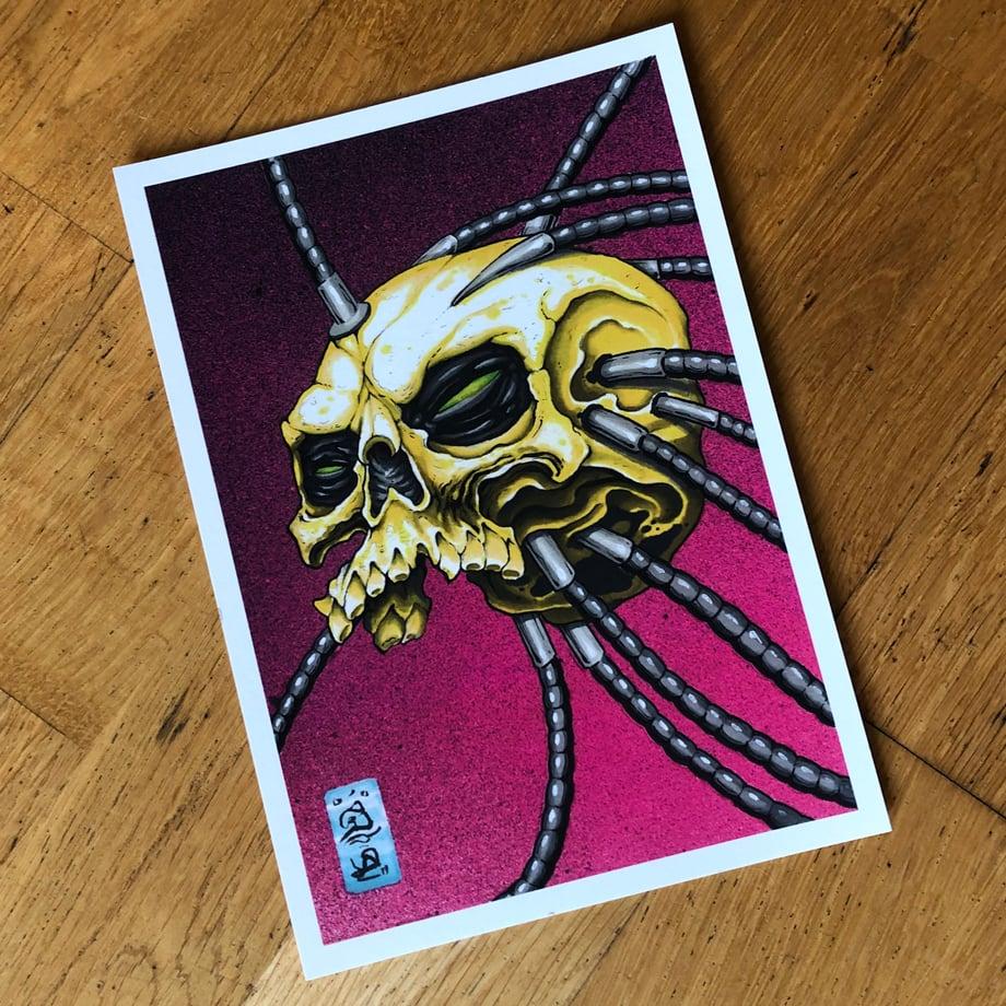 Image of A5 Symbiote Skull Print