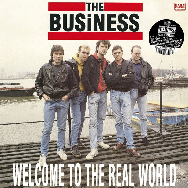 """Image of the BUSINESS - """"Welcome To The Real Word"""" LP (CLEAR VINYL)"""
