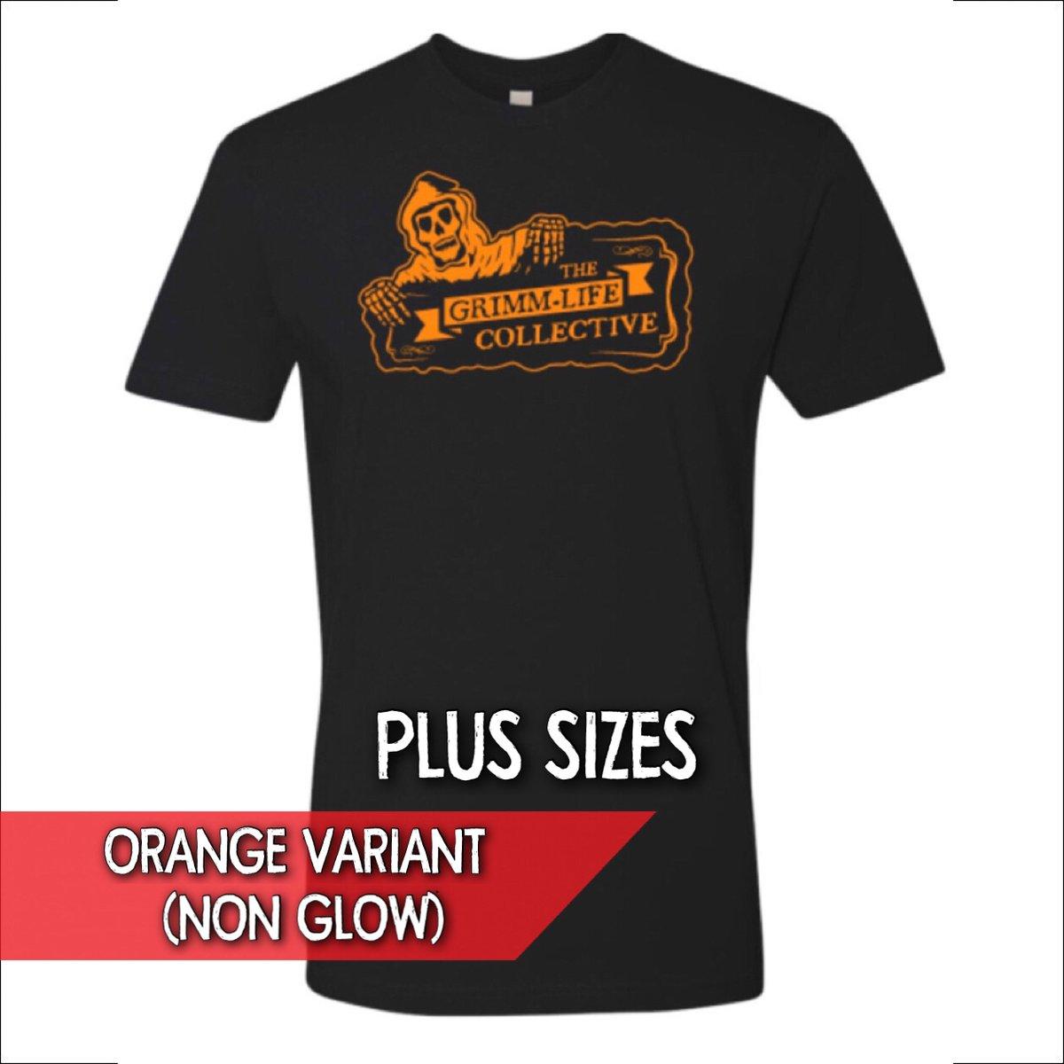 Image of (Plus Size) Pre-Order - Orange Variant Grimm-Life Logo Shirt