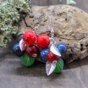 Lampwork earrings with goose berry