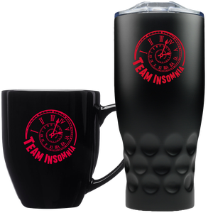 Image of Team Insomnia Bistro Mug and Stainless Steel Tumbler Combo