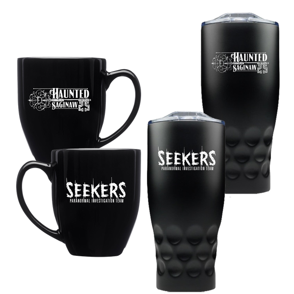 Image of Haunted Saginaw Bistro Mug and Stainless Steel Tumbler Combo