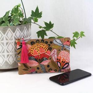 Image of Phone Purse - Bold Botanicals Tan
