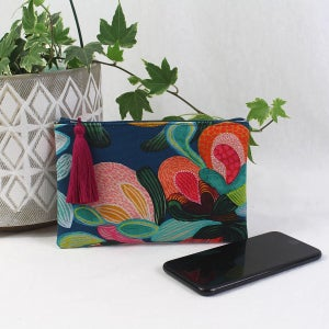 Image of Phone Purse - Bold Botanicals Teal