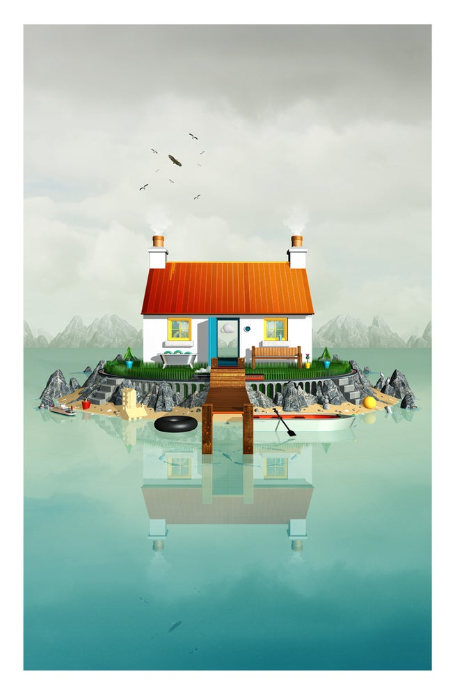 Image of 1 Loch View Scotland Art