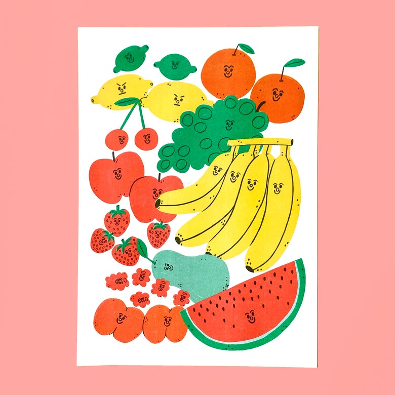Image of Fruit A3 Riso Print