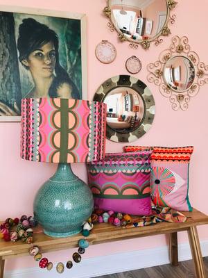 Image of Disc'O' Pink /Sage Lampshade