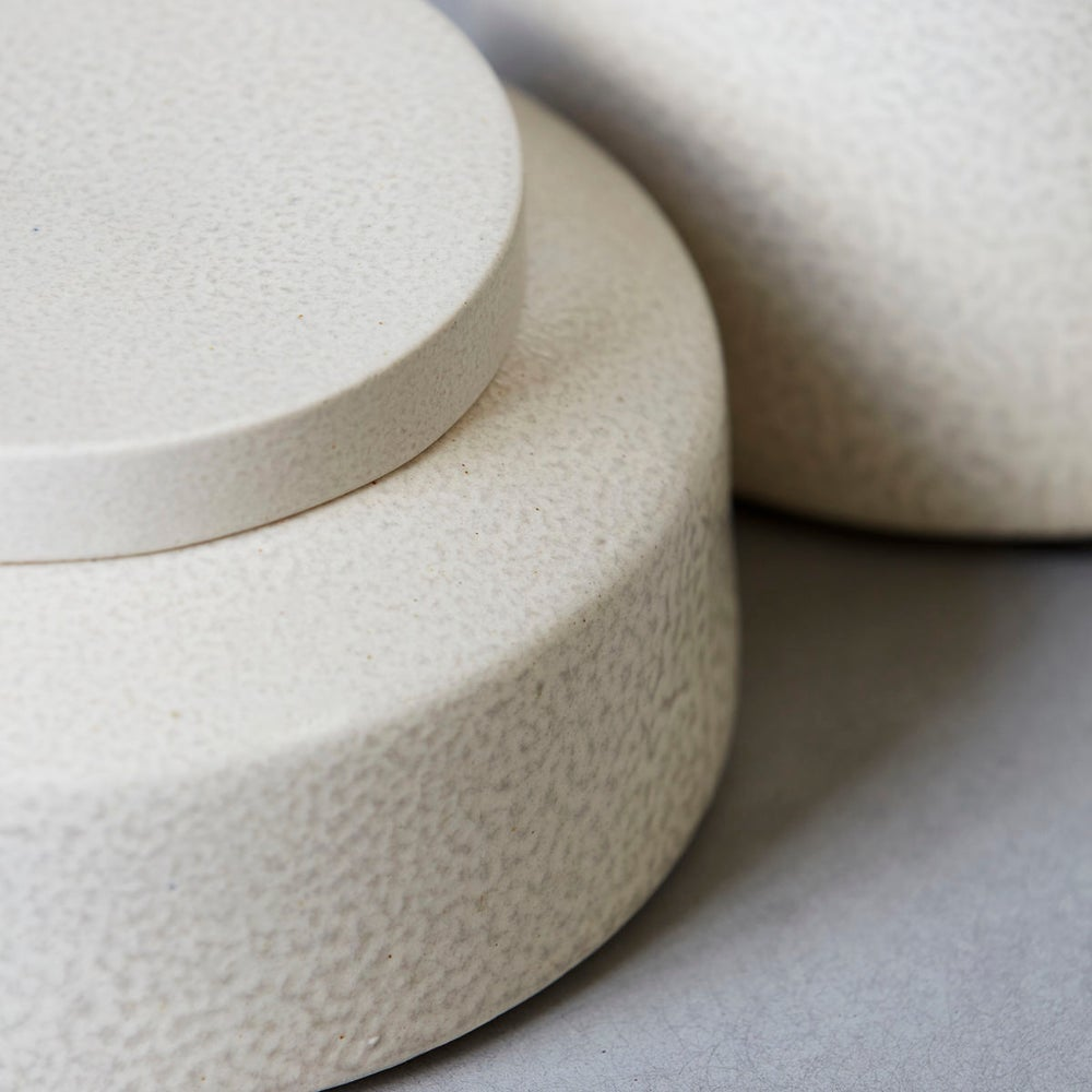 Image of Kala stoneware storage jar - short