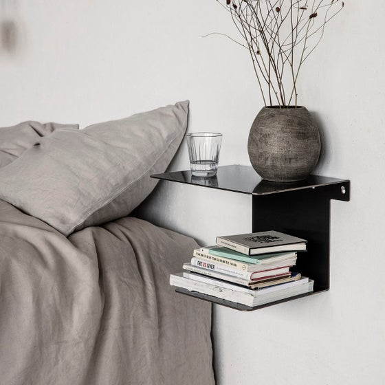 Image of Folded steel wall shelf