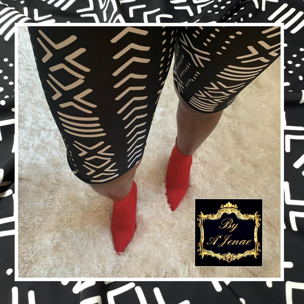 Image of Mudcloth Print Bikers & Leggings