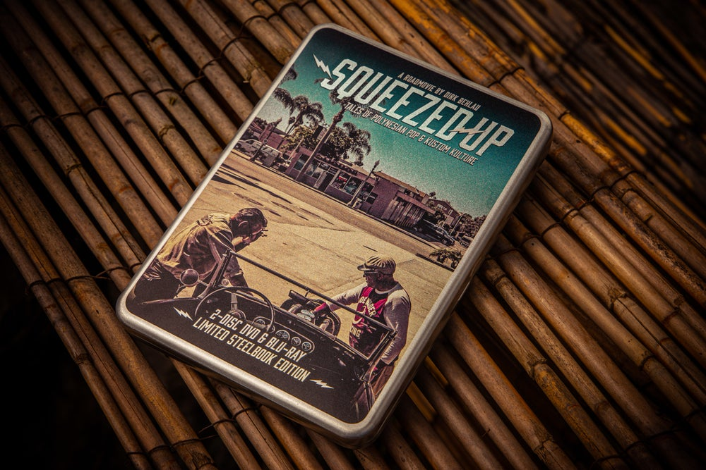 Squeezed Up - Tales of Polynesian Pop and Kustom Kulture DVD + Blu-Ray Steelbox