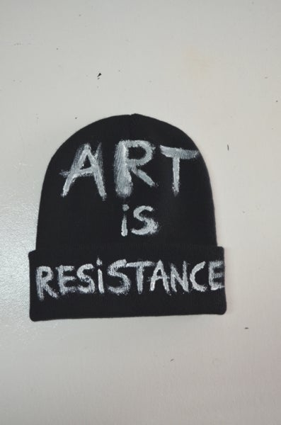 "Image of ART IS RESISTANCE BY NACO-PARIS "" SLOGAN "" CLASSIC BEANNY"