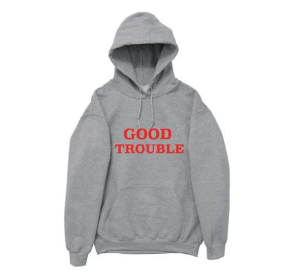 """Gray """"Good Trouble"""" Hoodie"""