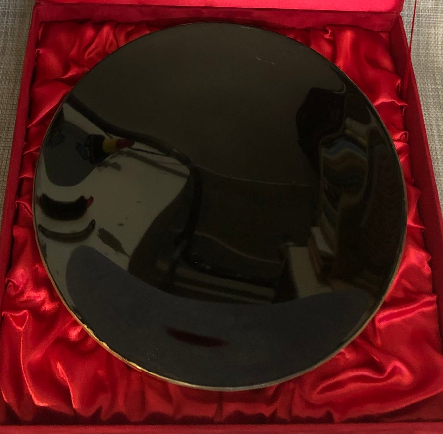 "Image of Huge Magical (Black) Mirror in a Handmade Box (diameter 25cm - 10"")"
