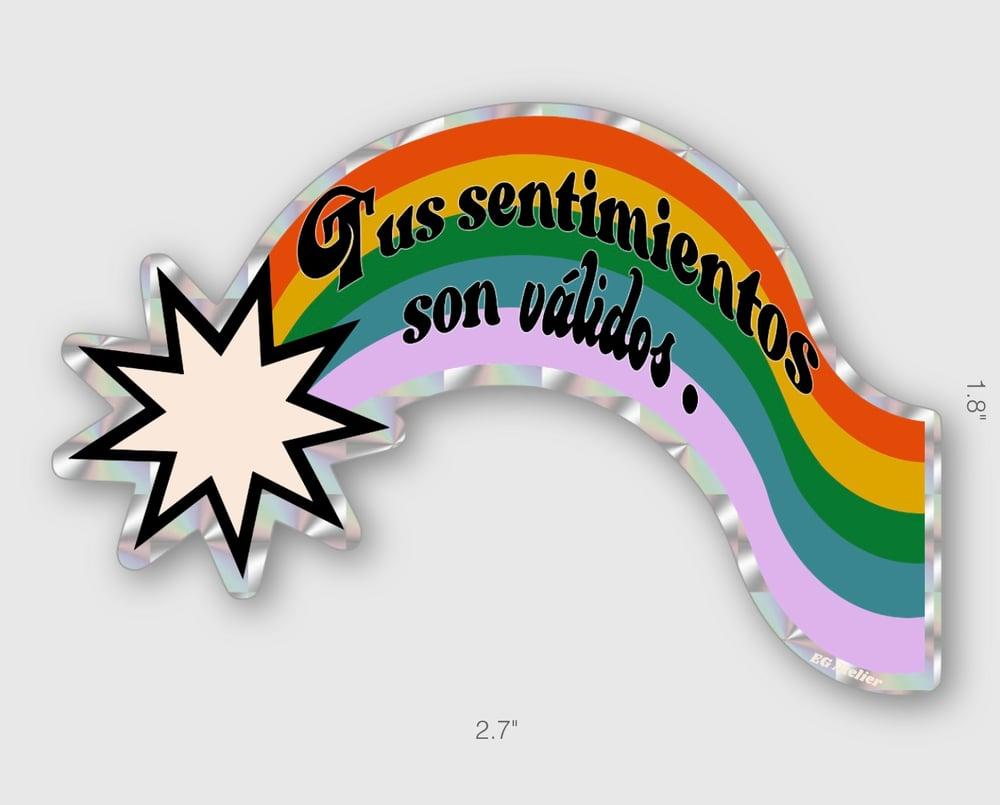 Image of Valid Feelings Rainbow Sticker