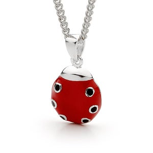 Image of Bears Of Hope Ladybird Pendant - Sterling Silver (Ceramic Colouring)