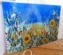 Image 1 of SUNFLOWER GLASS CHOPPING BOARD