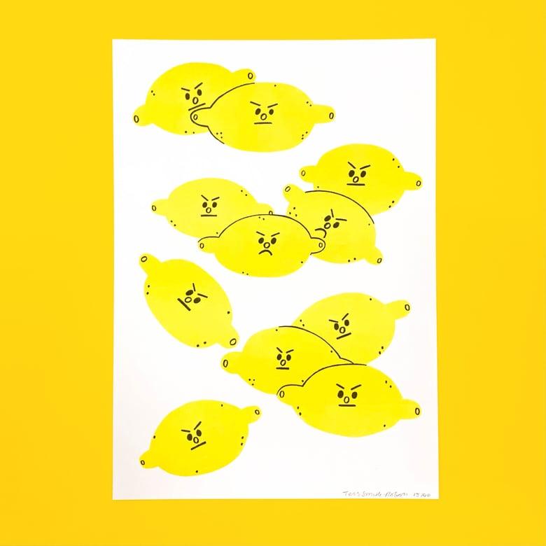 Image of Sour Lemons A4 Riso Print