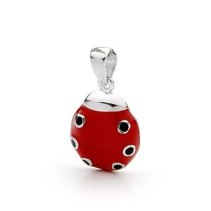 Image of Bears Of Hope Ladybird Bracelet Charm - Sterling Silver (Ceramic Colouring)