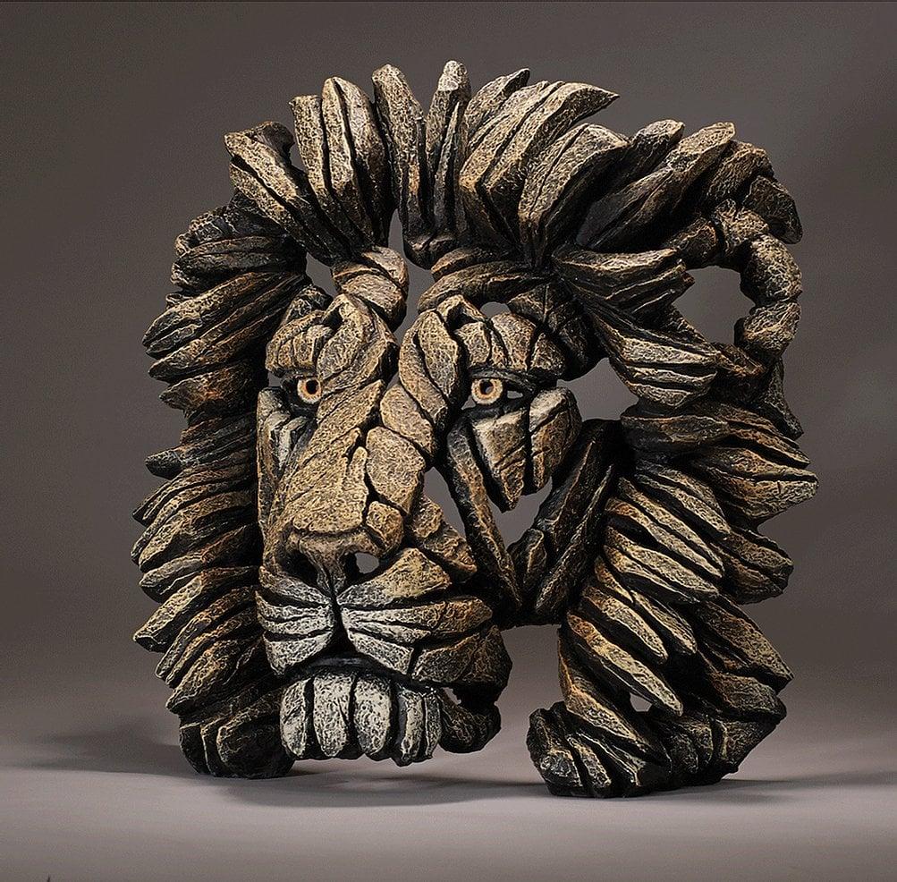 "Edge Sculpture ""Lion Bust - Savannah"""