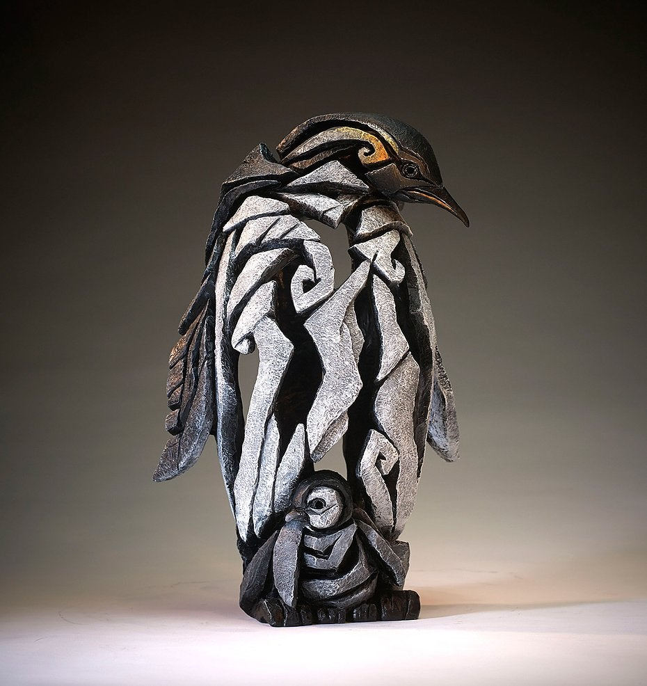 """Edge Sculpture """"Penguin With Chick"""""""