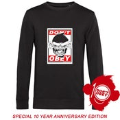 Image of DON'T OBEY SPECIAL LTD BLACK  SWEAT 10 YEAR EDITION