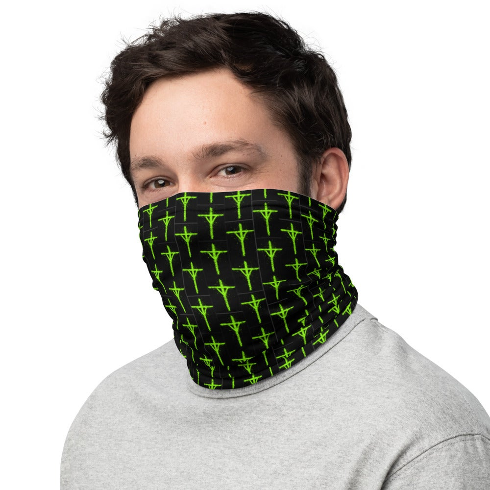 Image of NEON GREEN RUNE Neck Gaiter