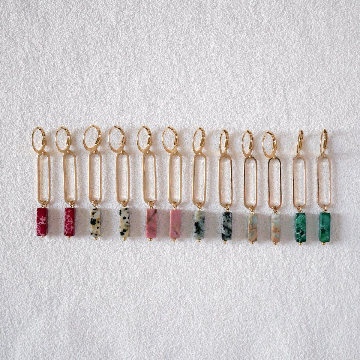 Image of Boucles d'Oreilles DIAZ longues Dorées - 5 Coloris