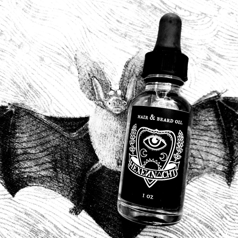 Image of hair & beard oil