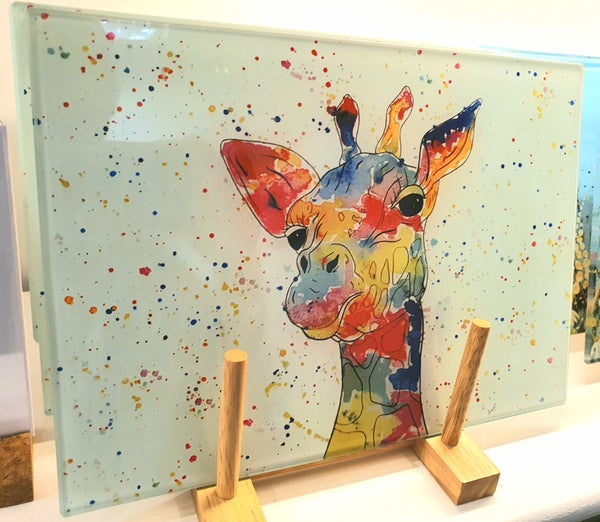 Image of Giraffe Glass Chopping Board