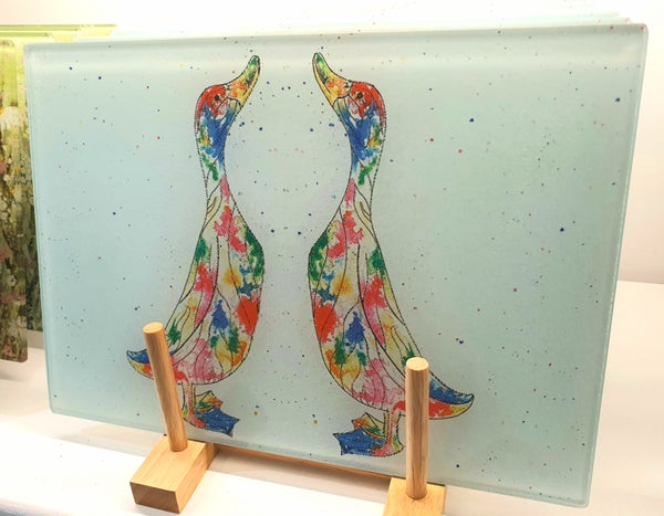 Image of Ducks Glass Chopping Board