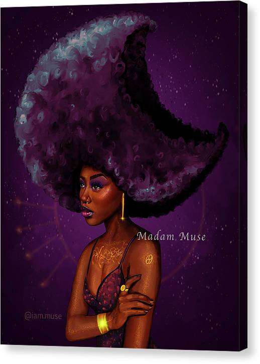 "Image of ""Cancer Moon Goddess"" Limited Edition Canvas Prints"