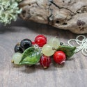 Lampwork pendant with currant berry