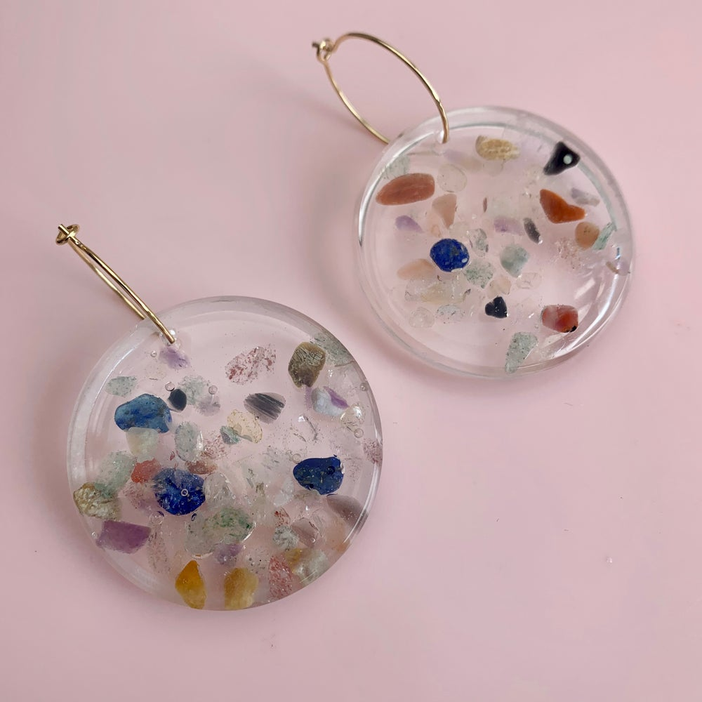 Image of Resin and Quartz Sprinkles - Circle