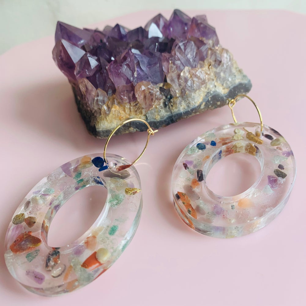 Image of Resin and Quartz Sprinkles - large oval drops