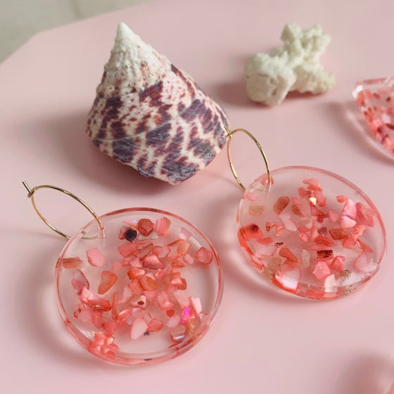 Image of Pink Shell Sprinkles - Circles