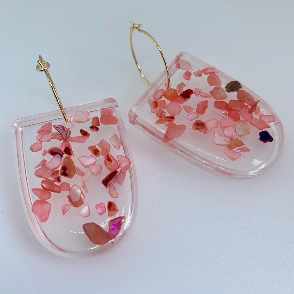 Image of Pink Shell Sprinkles - Half Ovals