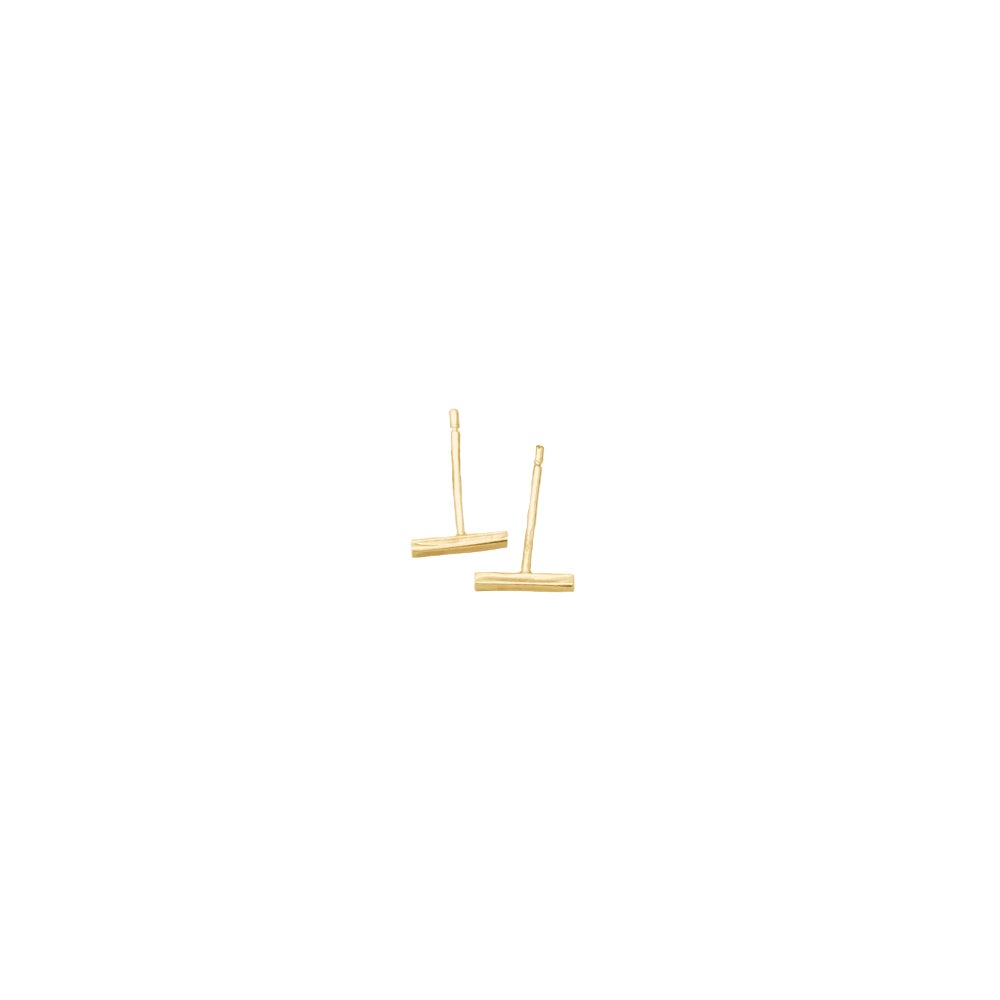 Image of 9ct solid gold square bar studs