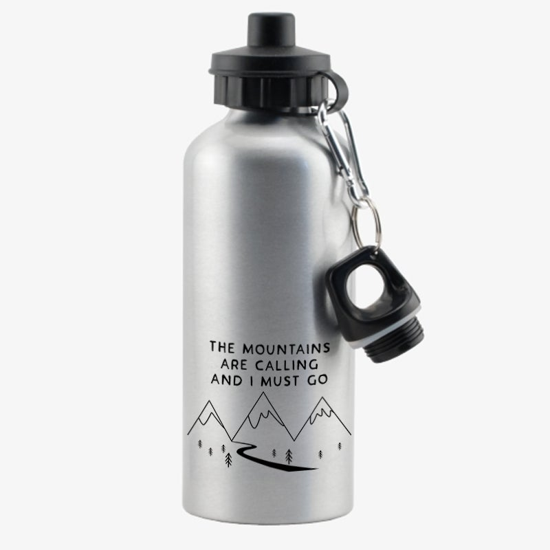 "Image of ""Mountains are calling"" (Waterbottle)"