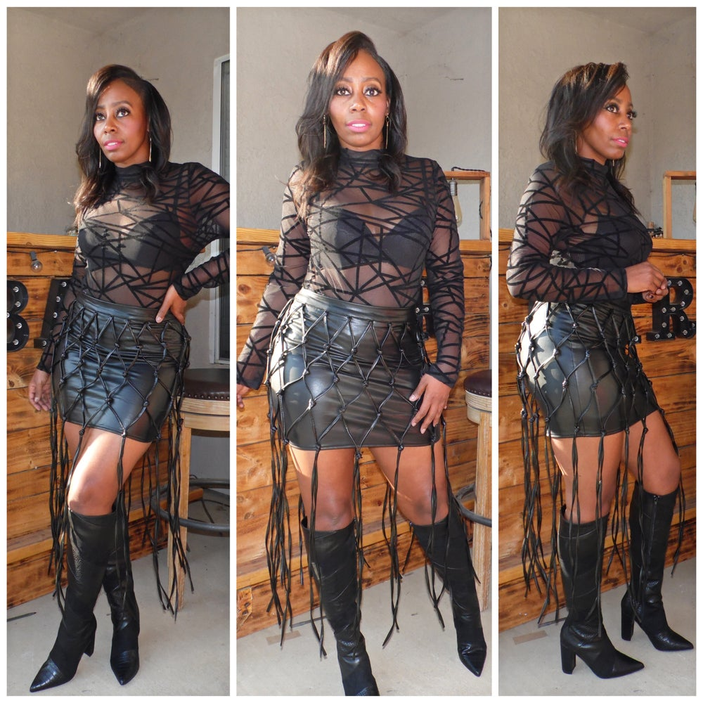 Image of UNTAMED LEATHER SKIRT
