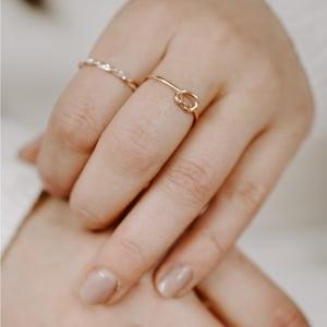 Image of 9ct Rose Gold Knot Stacking Ring