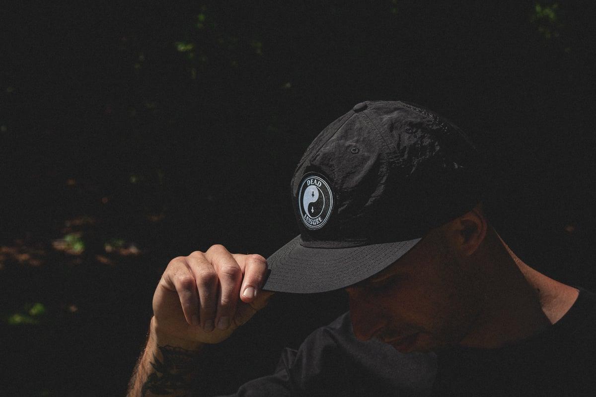 Yin Yang Beach Cap - Black