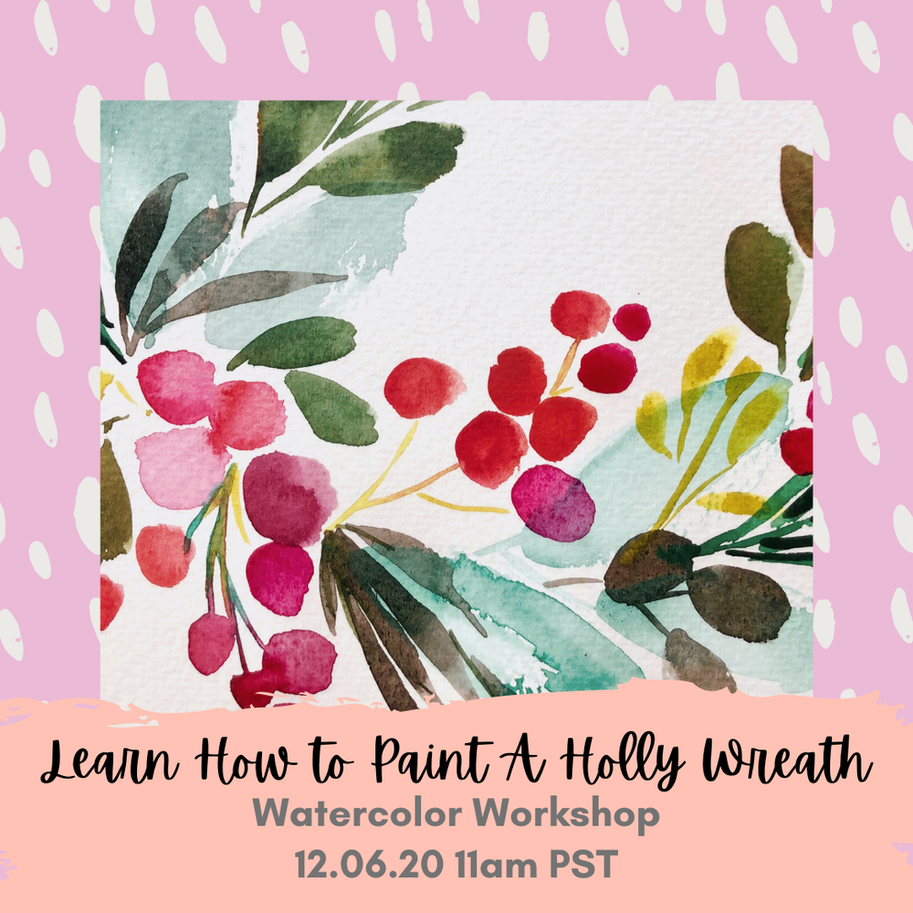 Image of Learn How to Paint A Holly Wreath