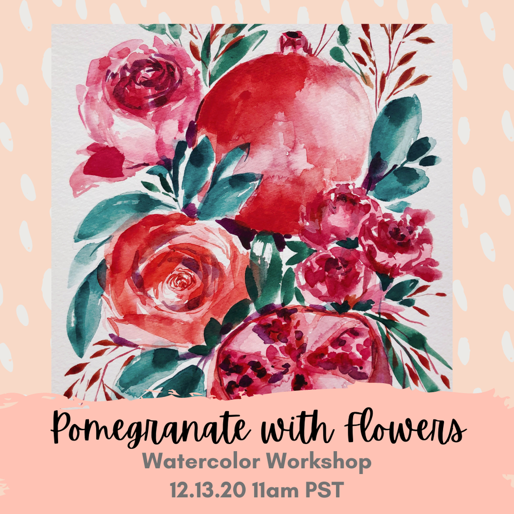 Image of Learn How to Paint Pomegranates with Flowers