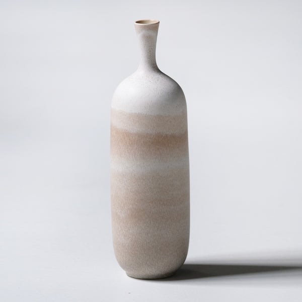 Image of TALL UNIKA VESSEL  IN EARTH WHITE GLAZE