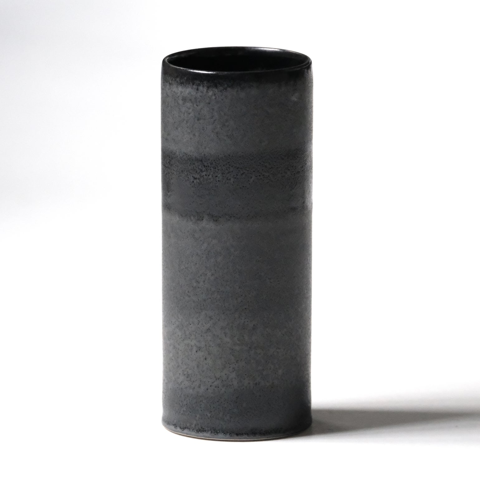 Image of LARGE UNIKA CYLINDER IN OBSIDIAN BLACK GLAZE